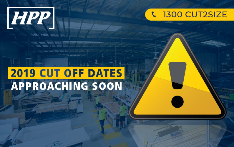 2019 HPP CUT-OFF DATES