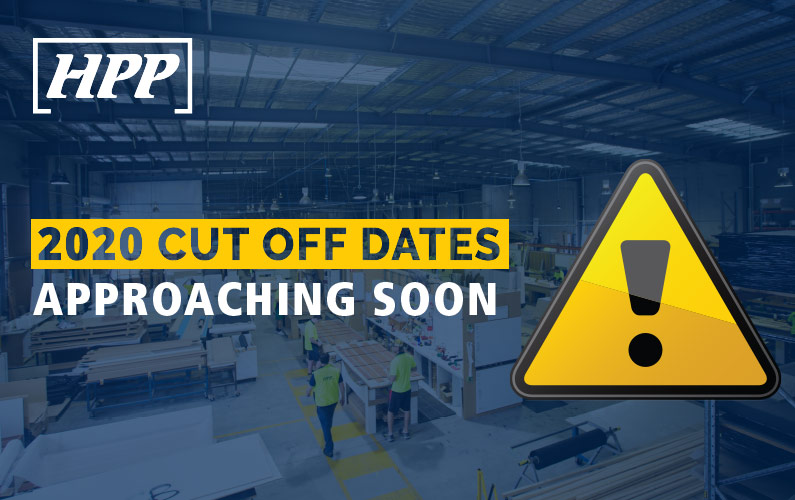 2020 HPP CUT-OFF DATES